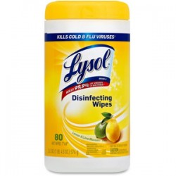 Lysol Brand Disinfecting Wipes, Lemon & Lime, 80-Wipes per Container