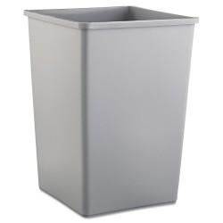Untouchable Square Trash Container, 35-gal., Gray