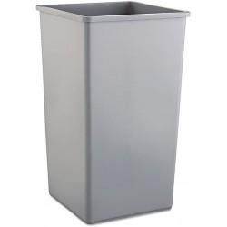 Untouchable Square Trash Container, 50-gal., Gray