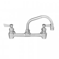 "Wall Mount Faucet, 8 Center, 12"" Nozzle"
