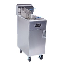 Royal Deep Fryer, Gas, 50-lb., SS Frypot