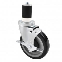 Caster, Stem Rubber Expansion Socket Caster Set