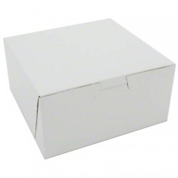 "Chicken/Bakery Box Plain White, 6"" x 6"" x 3"""
