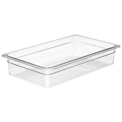 Cambro Insert Food Pan, Full, Clear, 4""
