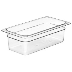 Cambro Insert Food Pan, 1/3, Clear, 4""