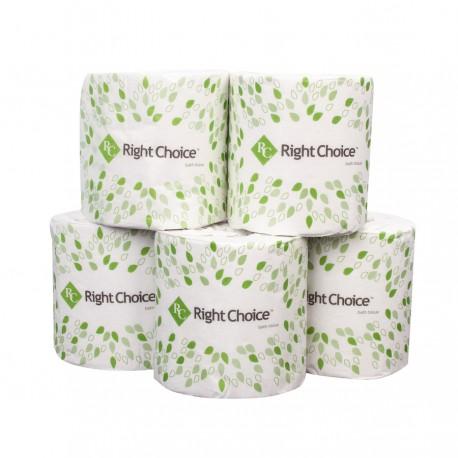 Right Choice Bathroom Tissue, 500-Sheet 2-Ply