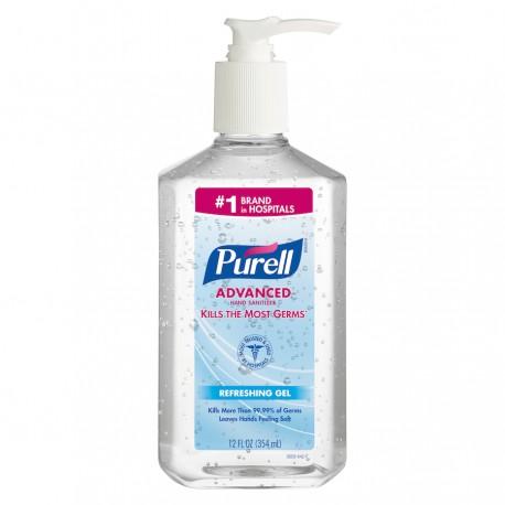 Purell Hand Sanitizer, Clean Scent, Pump, 12-oz.