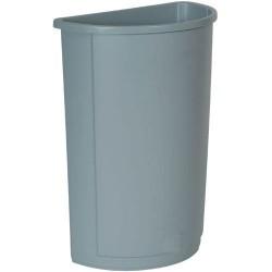 21 Gallon Half Round Trash Waste Container