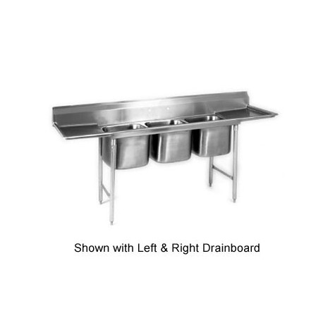 3-Hole Sink, NSF, No Drainboards