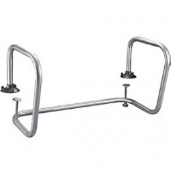 Double Chrome Service Stall Bar Rail