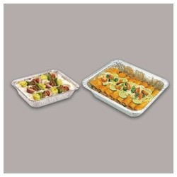 "Aluminum X-Heavy Foil Steam Table Pans. Half-Size Deep, 4-3/16""D"