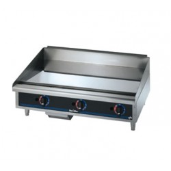 Griddle, Countertop, Thermostatic, Gas, Chrome, 36""