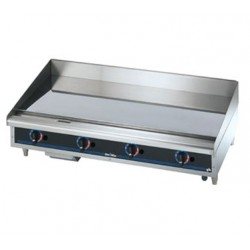 Griddle, Countertop, Thermostatic, Gas, Chrome, 48""