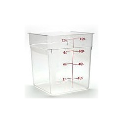 Cambro Storage Container 8 qt. Square, Clear