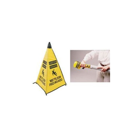 Handy Cone Caution Wet Floor Sign