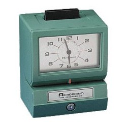 Manual Print Time Clock Recorders