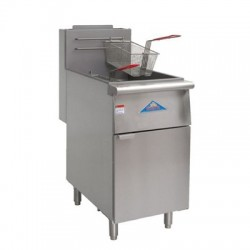 Deep Fryer, Gas, 80-lb., SS Frypot