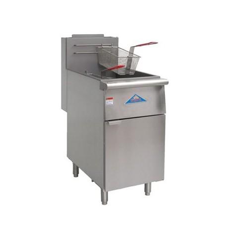 Deep Fryer, Gas, 80-lb., SS Frypot