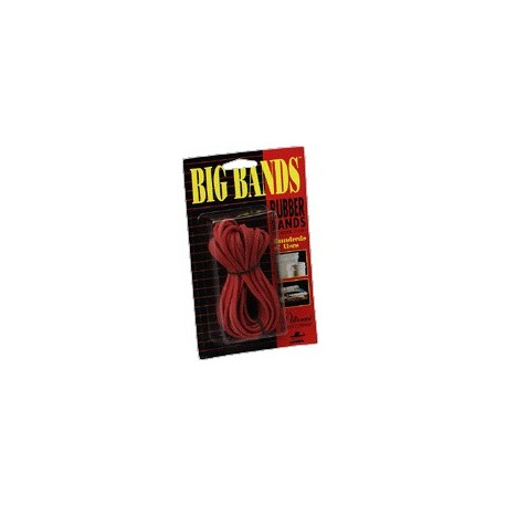 "Big Rubber Bands, 7""x1/8"", Red"