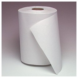 "White Dispenser Roll Towels   8"" x 800'"