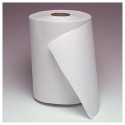 "White Dispenser Roll Towels   8"" x 800'"