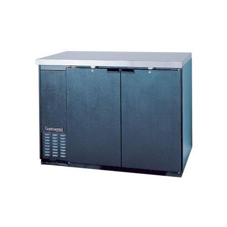 """Backbar Cooler, 50"""", 2-Door, Black Exterior"""