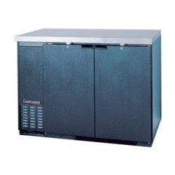 "Backbar Cooler, 59"", 2-Door, Black Exterior"
