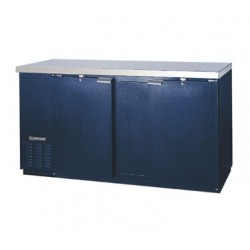 "Backbar Cooler, 69"", 2-Door, Black Exterior"