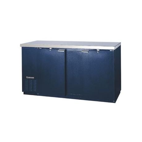 """Backbar Cooler, 69"""", 2-Door, Black Exterior"""