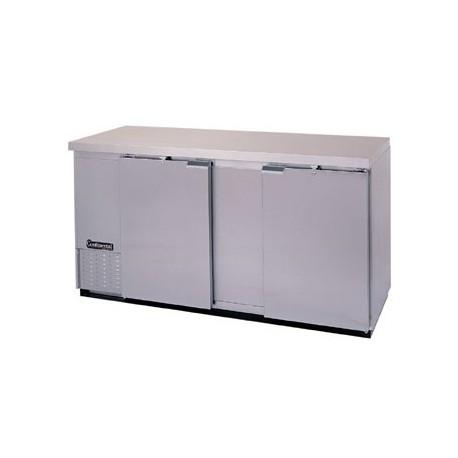"""Backbar Cooler, 69"""", 2-Door, Stainless Steel Exterior"""