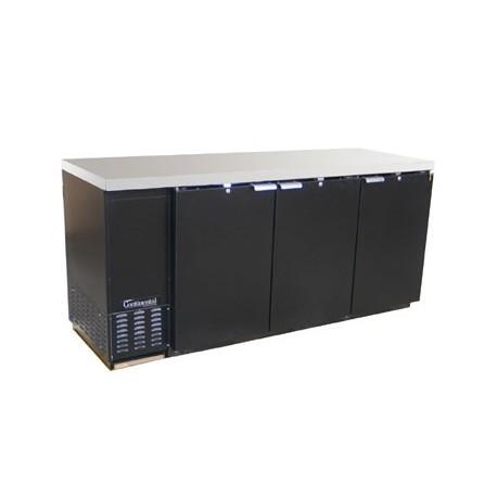 """Backbar Cooler, 79"""", 3-Door, Black Exterior"""