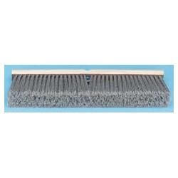 "Gray Flagged Polypropylene Push Broom, 24"""