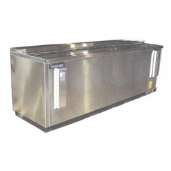 "Flat Top Bottle Cooler, 95"", Stainless Steel Exterior"