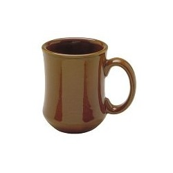 China Mug, 7-1/2 oz., bell shape, Caramel