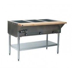"Steam Table, 3-Hole, Electric, 48"", 120-Volt"