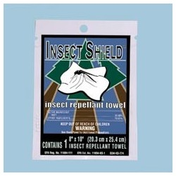 Insect Shield Insect Repellent Towel Wipes