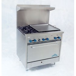 "Comstock Castle Range 36"", 6 burners"