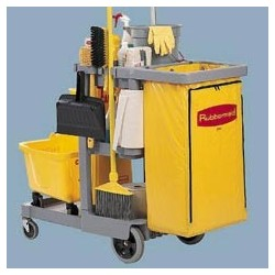 Janitor Cart 2000 with Vinyl Bag