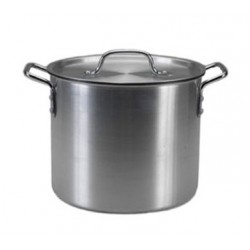 Stock Pot W/cover, 12 Qt., Aluminized Steel W/non-stick Coating