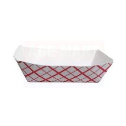 Food Trays Plaid 1/2 lb.
