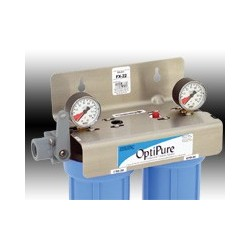 """Double filter system for Ice Machines, 20"""""""