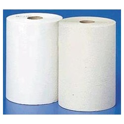 Non-perforated White Roll Dispenser Towels