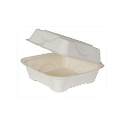 Sandwich Harvest Carryout Container, Compostable, 1-Compartment