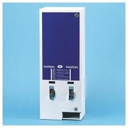 E-Vendor Dual Sanitary Napkin/Tampon Dispenser, $.25 Mechanism