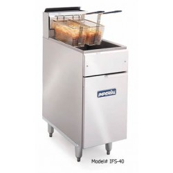 Elite Deep Fryer, Gas, 40-lb., SS Frypot