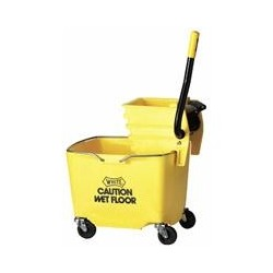 MopBucket with Sideward Pressure Wringer Combo, 35-Qt