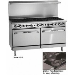 "Restaurant Range, 60"", Gas, 10 Open Burners"