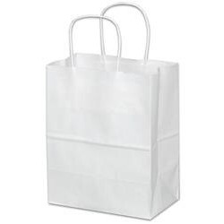 Missy White Paper Shopping Bag w/Twist Handle