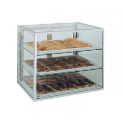 "Counter Top Display Case, 15"", 2-shelve"