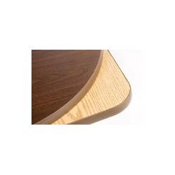 "Table Top 24"" x 24"" Square, Melamine, Oak/Walnut"